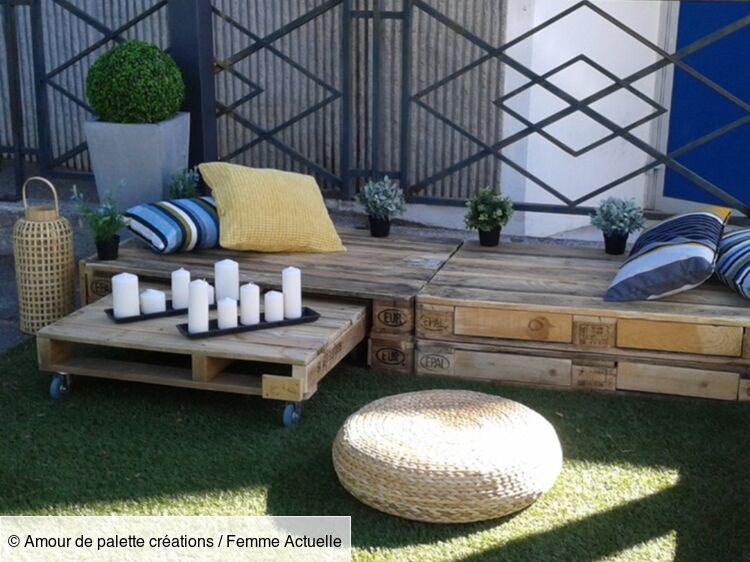Meubles en palettes : un salon de jardin à petit prix ...