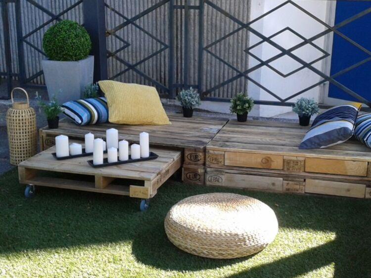 Palette Meuble Jardin meubles en palettes : un salon de jardin à petit prix : femme