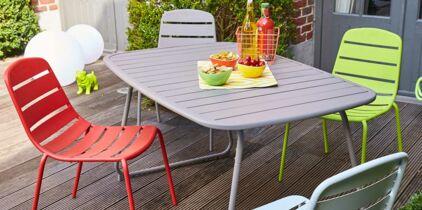 Fabriquer une table et un banc de jardin avec des rondins : Femme ...