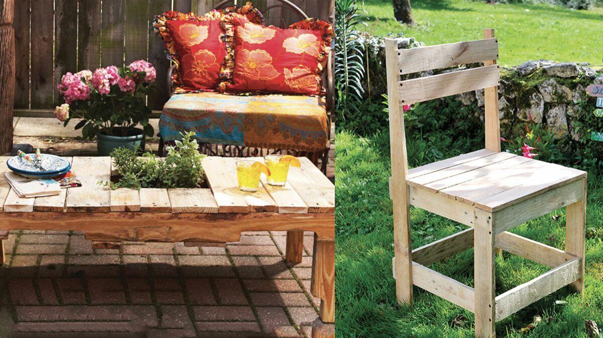 Faire Un Banc En Palette salon de jardin en palettes : 10 tutos pour le faire soi