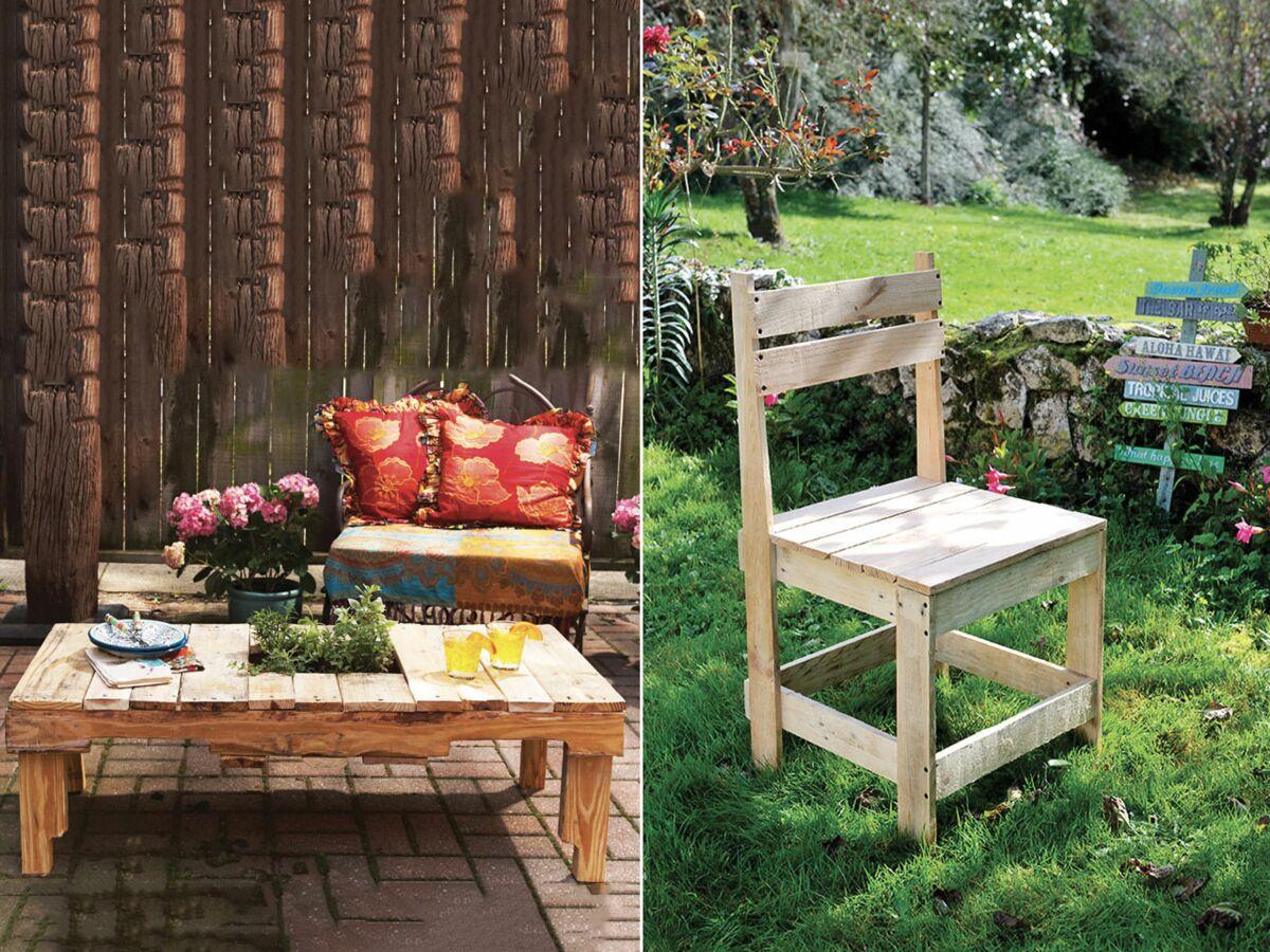 Combien De Palette Pour Faire Une Terrasse salon de jardin en palettes : 10 tutos pour le faire soi