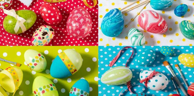 4 techniques faciles pour décorer des oeufs de Pâques avec ses enfants