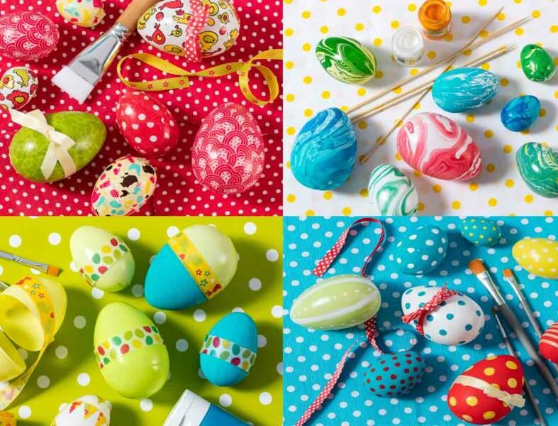 4 techniques faciles pour faire des oeufs de Pâques avec les enfants