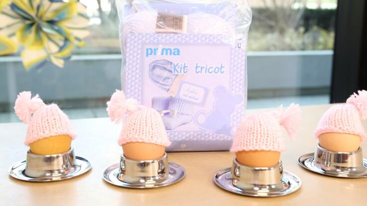 A Pâques, je crée des bonnets en laine pour mes oeufs
