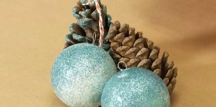 Vidéo : des décos de sapin pailletées pour Noël