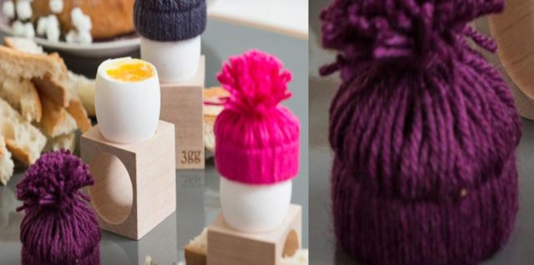 Des bonnets pompons pour mes oeufs de Pâques