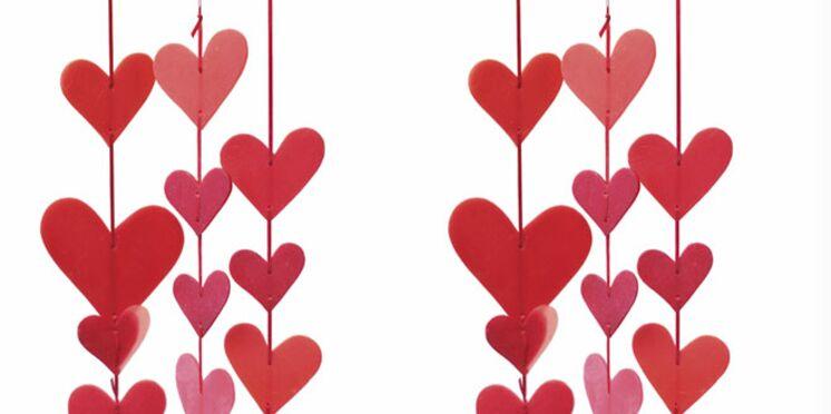 Une suspension de bougies pour la Saint-Valentin