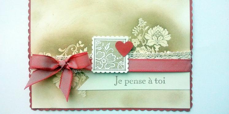 Une carte pour célébrer la Saint-Valentin