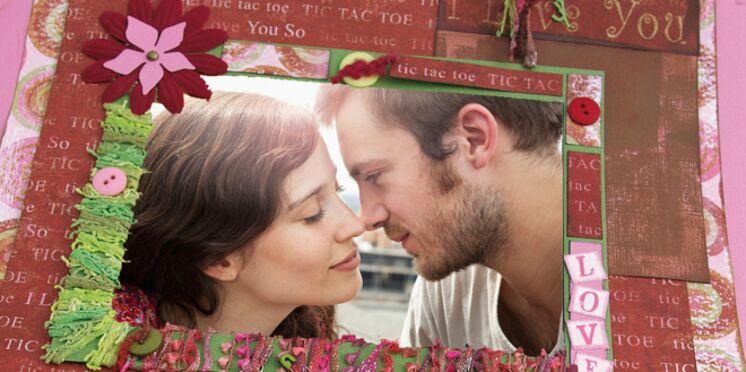 Scrapbooking : un cadre pour la Saint-Valentin