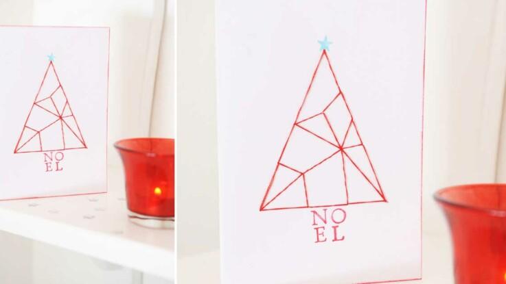 Vidéo : une carte en fil tendu pour Noël