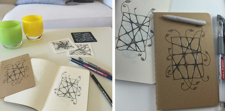 Customiser un carnet avec l'art du Zentangle®