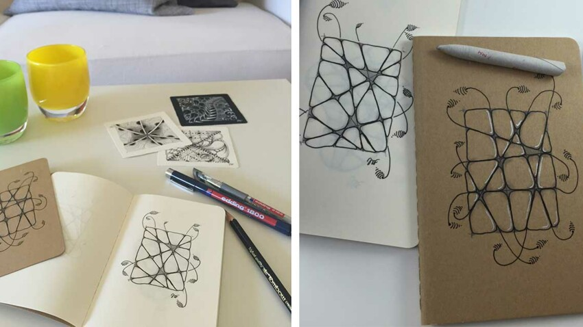Customiser un carnet avec l'art du Zentangle®
