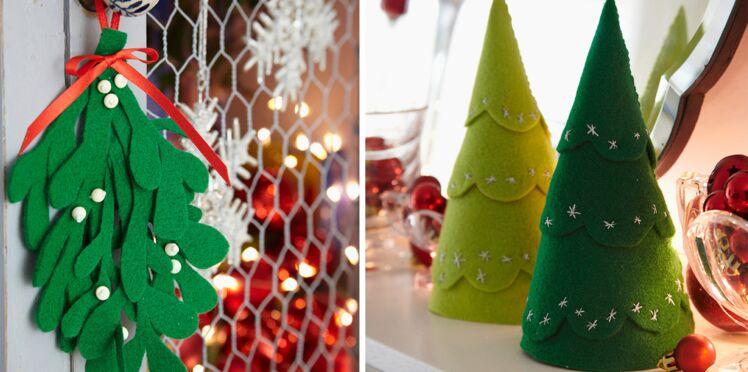 Déco de Noël : 2 idées express en feutrine