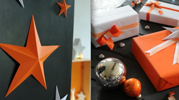 Déco facile, une étoile géante en papier pour Noël