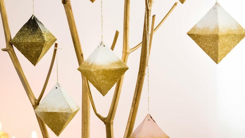 Déco de Noël : des suspensions diamants