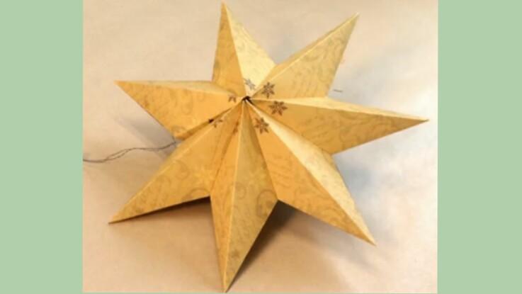 deco noel origami etoile feliz navidad en europa. Black Bedroom Furniture Sets. Home Design Ideas