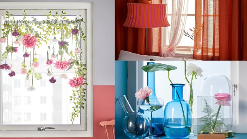 3 idées d'Ikea pour décorer ses fenêtres avec des fleurs