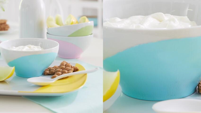 Des bols couleur pastel