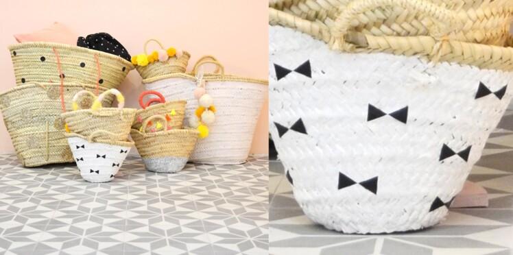 Des paniers décorés de paillettes DIY