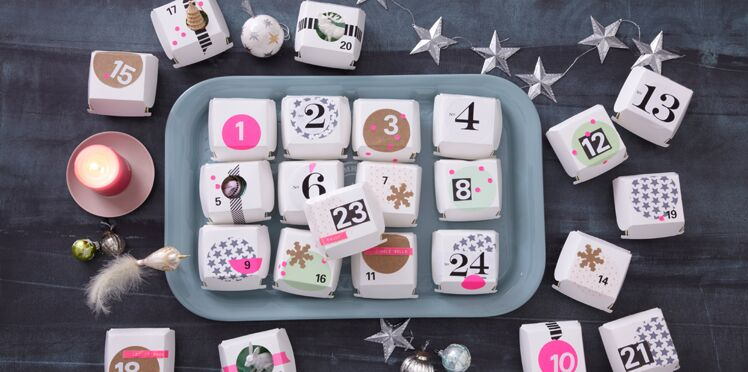 DIY : un calendrier de l'Avent avec des boites
