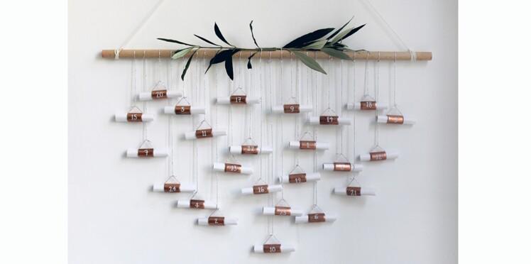 DIY : un calendrier de l'Avent en cuivre