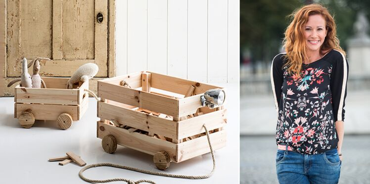 DIY : un chariot à jouets en bois par Sophie Ferjani
