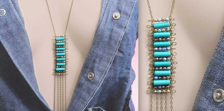 DIY collier : un sautoir d'inspiration ethnique