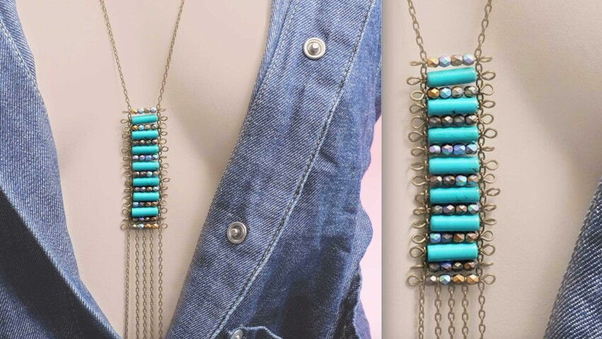 DIY collier : un sautoir d'inspiration ethnique