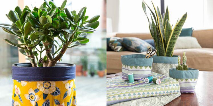 DIY : coudre un cache-pot en tissu