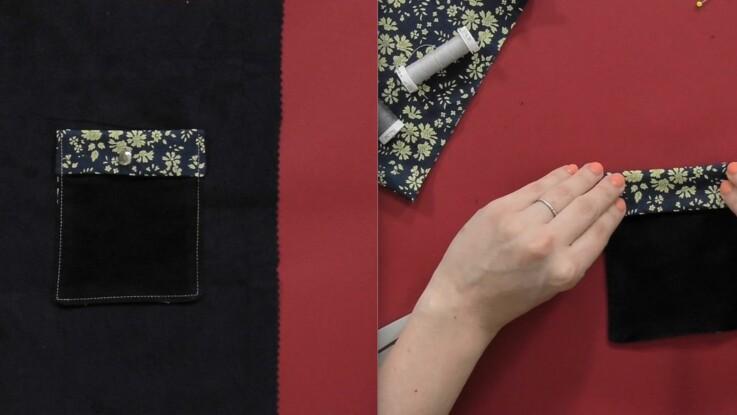 Tuto Couture : comment faire une poche à rabat
