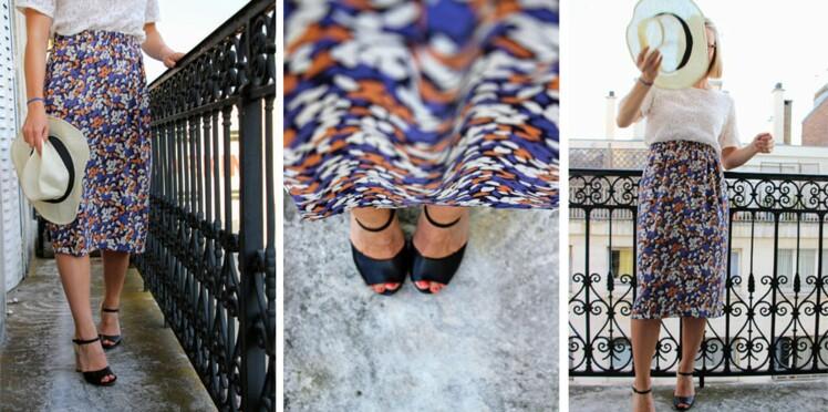 diy couture une jupe facile et sans patron femme actuelle le mag. Black Bedroom Furniture Sets. Home Design Ideas