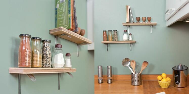 DIY : créer une étagère avec des couverts