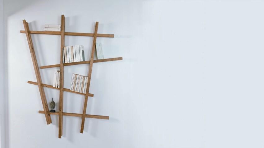 DIY : créer une bibliothèque avec des tasseaux