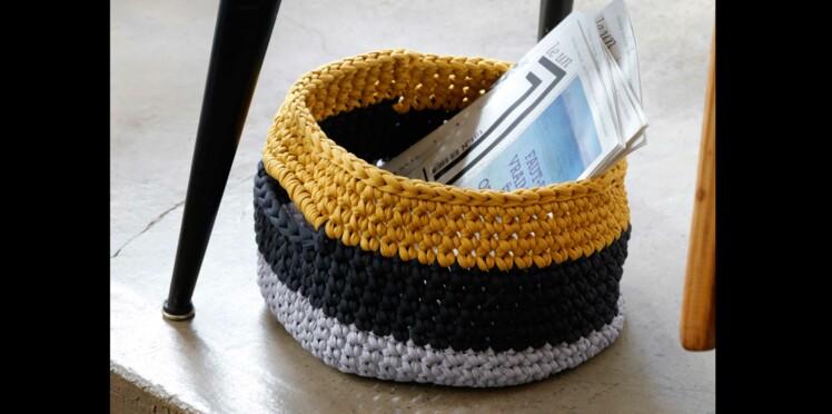 DIY Crochet : un panier à anses