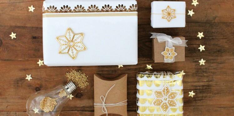 DIY de Noel en perles Peyote : des étoiles tissées en rond
