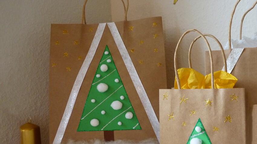 DIY de Noël : une pochette cadeau en papier kraft