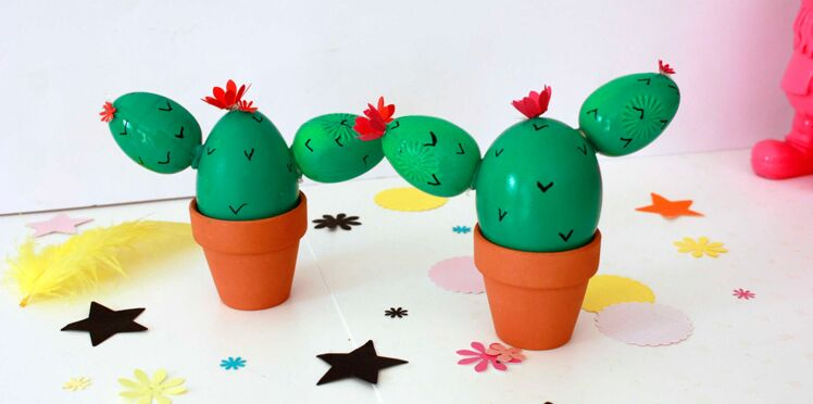 DIY de Pâques : des oeufs cactus tendance