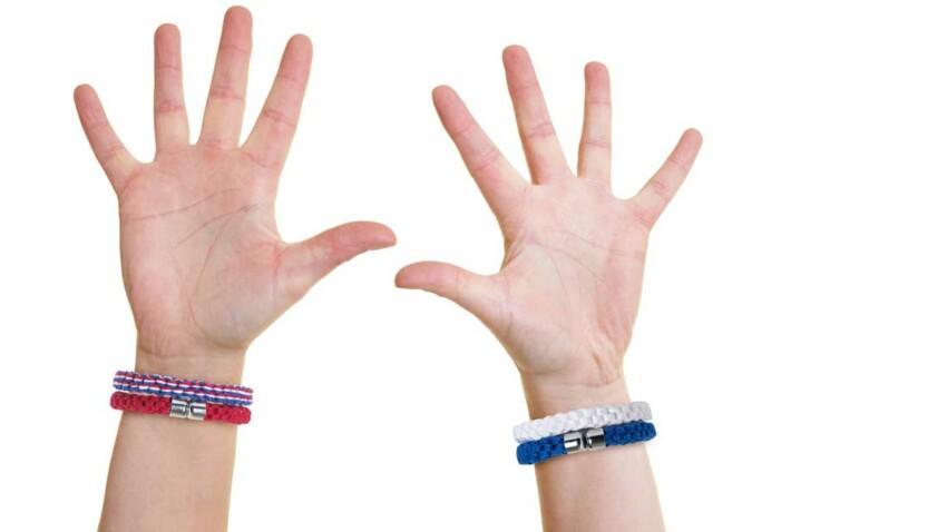 DIY : des bracelets de supporters à tricoter