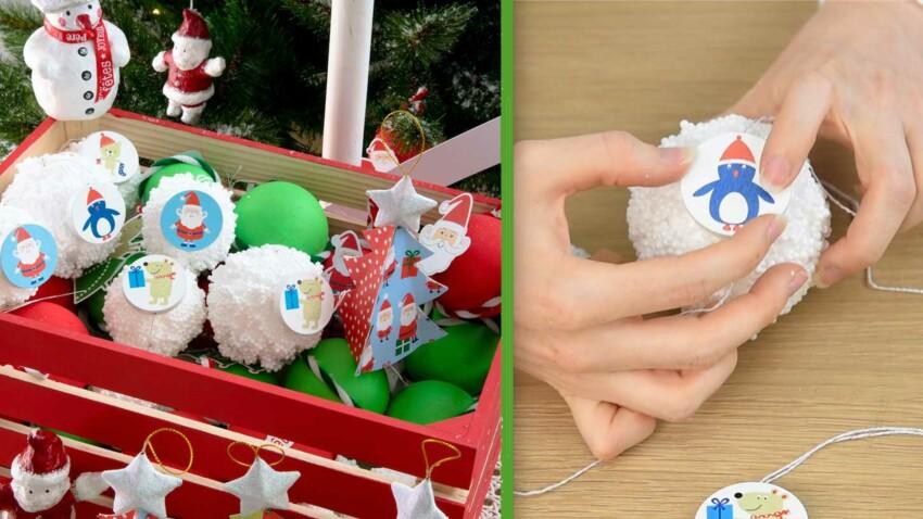 DIY Enfants : décos de sapin de Noël, faciles et pas cher