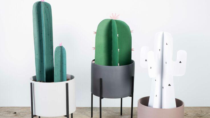 DIY Facile : des cactus en papier plié