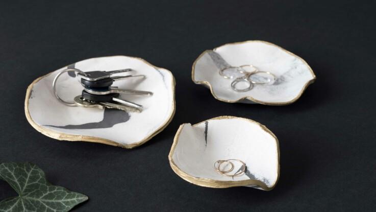 DIY Facile : des coupelles effet marbre en pâte auto-durcissante