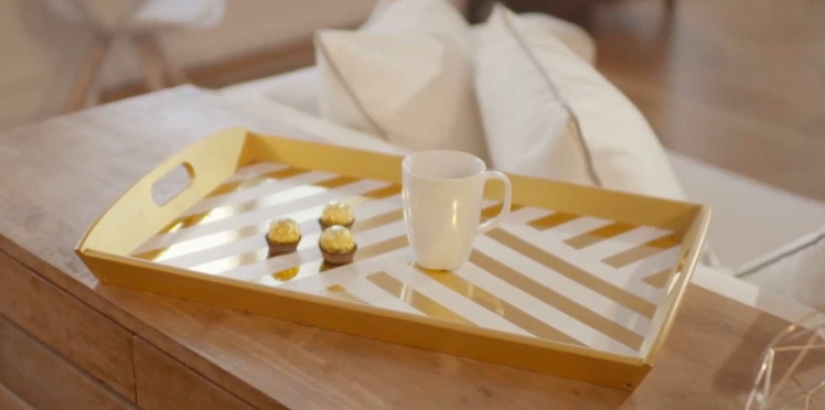 DIY facile : relooker un plateau pour les fêtes