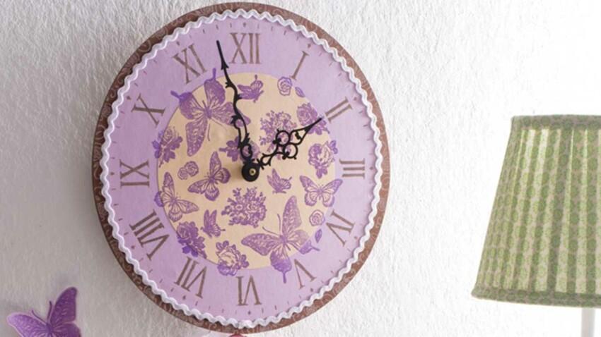 DIY : une horloge champêtre et colorée