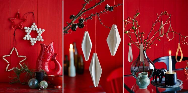 DIY : idées de déco de sapin en perles, en cuivre, en papier ou en bois