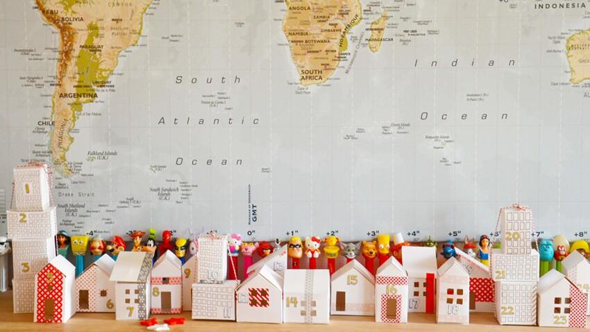 DIY de Noël : un calendrier de l'Avent en maisonnettes