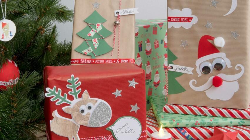 DIY Noel : décorer des paquets cadeaux pour les enfants