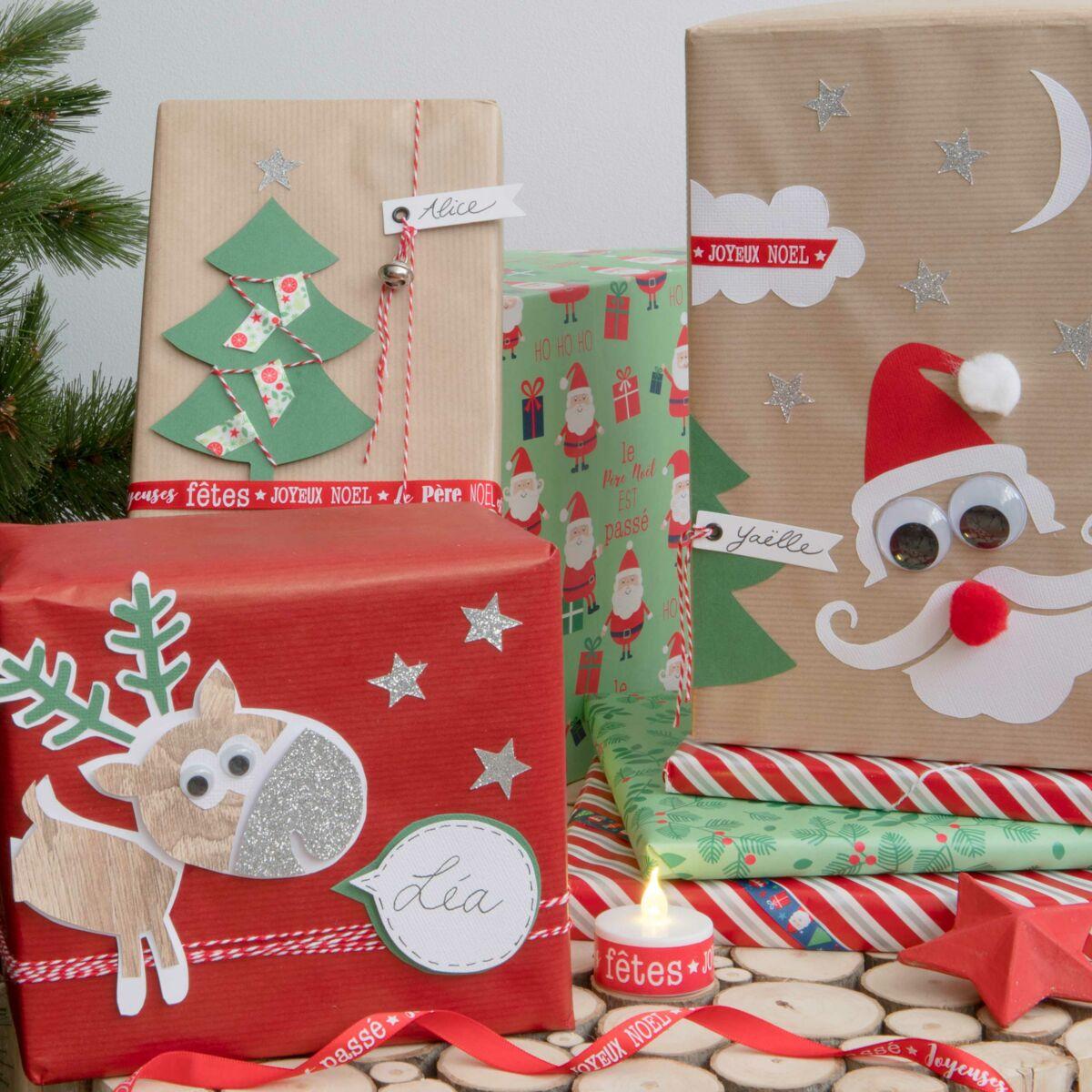 Decoration De Paquets Cadeaux diy noel : décorer des paquets cadeaux pour les enfants