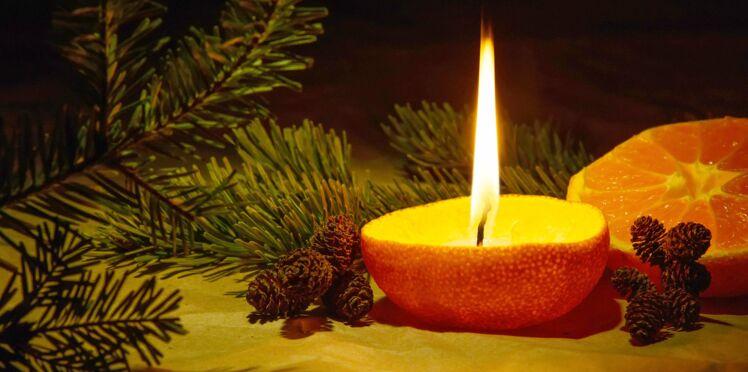 DIY Noël rapide et facile : faire une bougie avec une clémentine