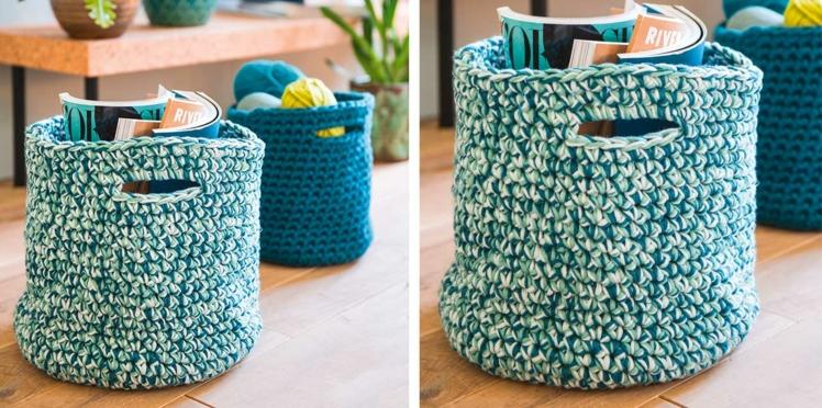 DIY : des paniers au crochet