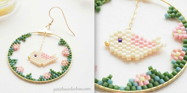 DIY perles Peyote : le tissage Brick Stitch